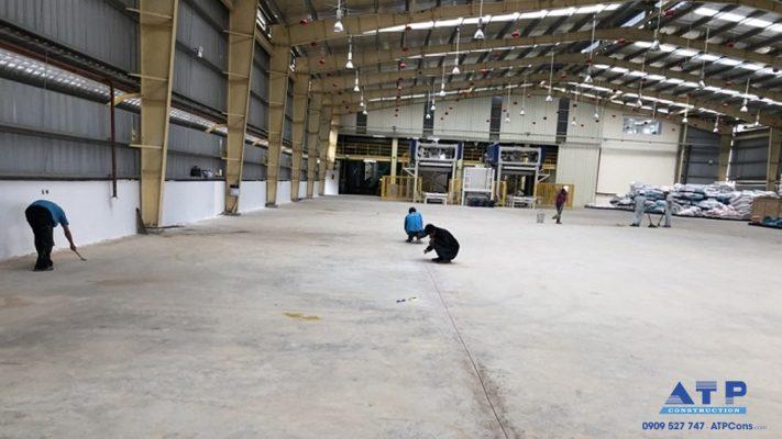 nâng nền nhà xưởng