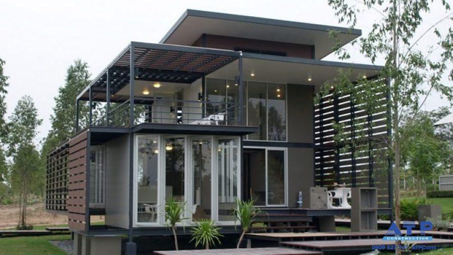 Mẫu nhà phố đẹp bằng thép tiền chế 2021